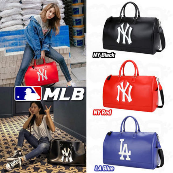 ★MLB★19-20AW NEW YORK YANKEES BIG LOGO BOSTON BAG(全2色)