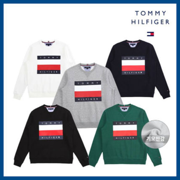 ◆TOMMY HILFIGER◆ BIG LOGO SWEATSHIRTS (5色) 裏起毛有