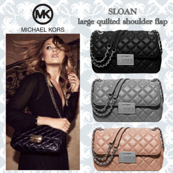 【国内発送】☆MichaelKors☆Sloan Large Quilted Shoulder