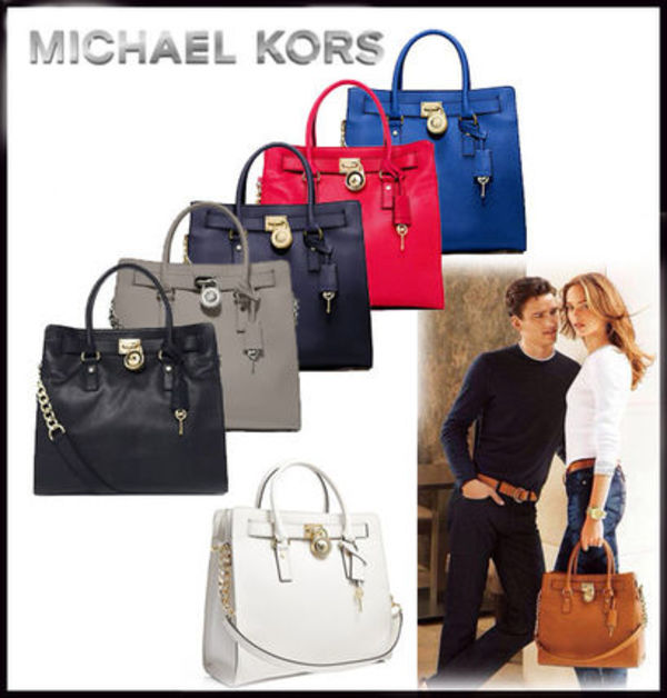MICHAEL KORS★HAMILTON North/South LARGE TOTE 国内発送!!
