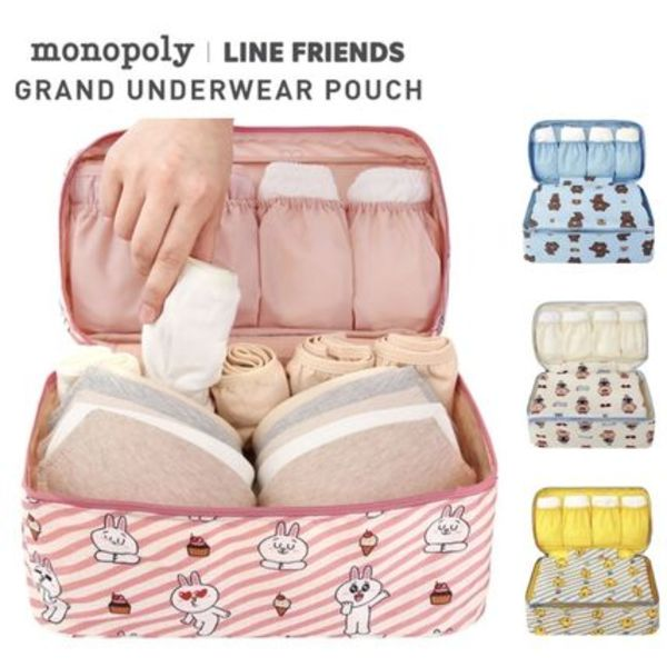 ★monopoly×LINE FRIENDS★GRAND UNDERWEAR POUCH【追跡込】