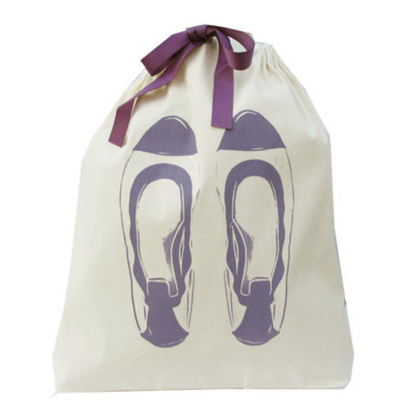 即納Bag-allバックオール Ballet flats Organizing bag(PUPLE)