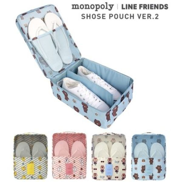 ★monopoly×LINE FRIENDS★SHOES POUCH ver.2【追跡送料込】
