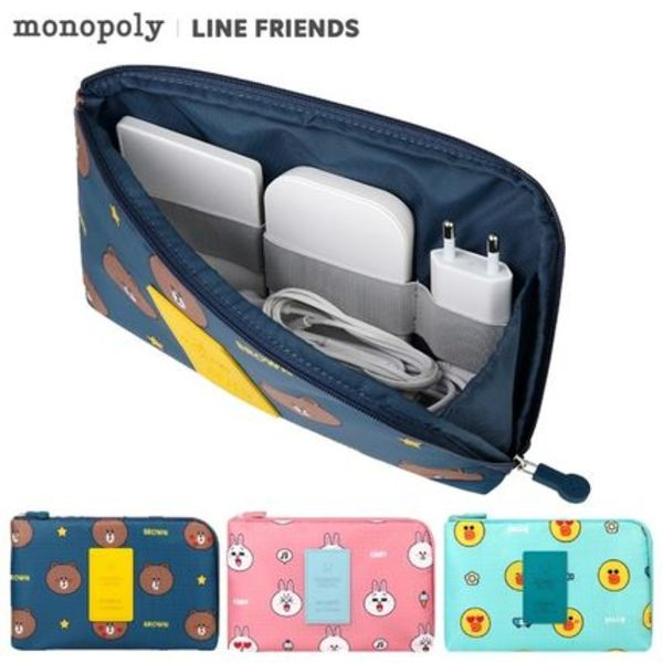 monopoly×LINE FRIENDS★CABLE POUCH (L)