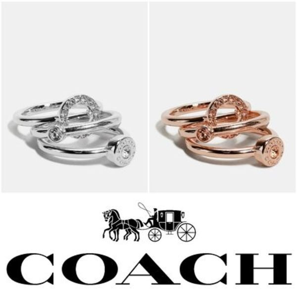 【Coach】Open Circle Halo Ring Set リング 3点セット