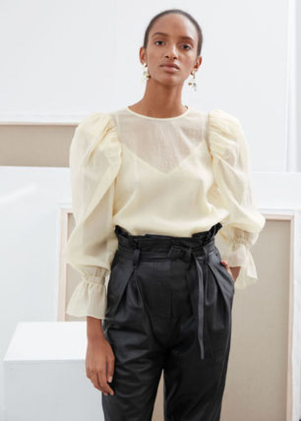 & Other Stories☆Sheer Puff Sleeve Blouse