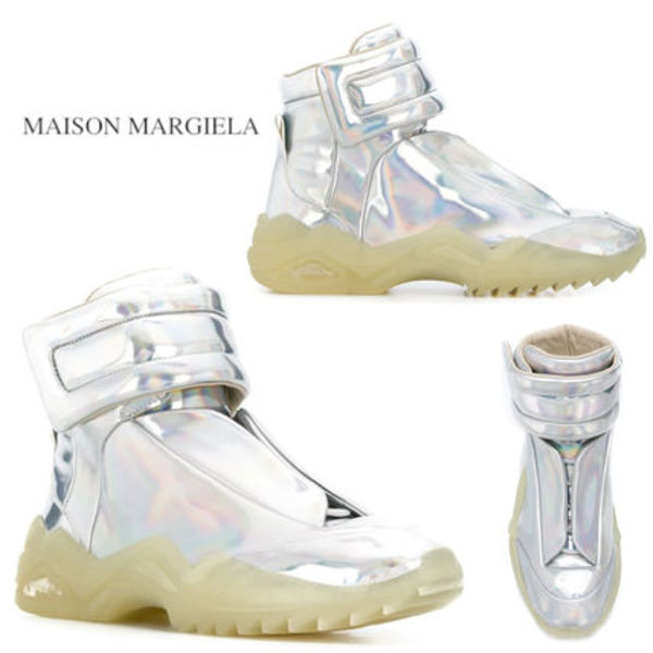 《SALE》MAISON MARGIELA FUTURE HIGH-TOP SNEAKERS METALLIC