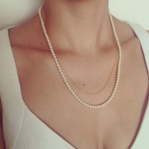 Swarovski Pearls & Gold Layered Necklace