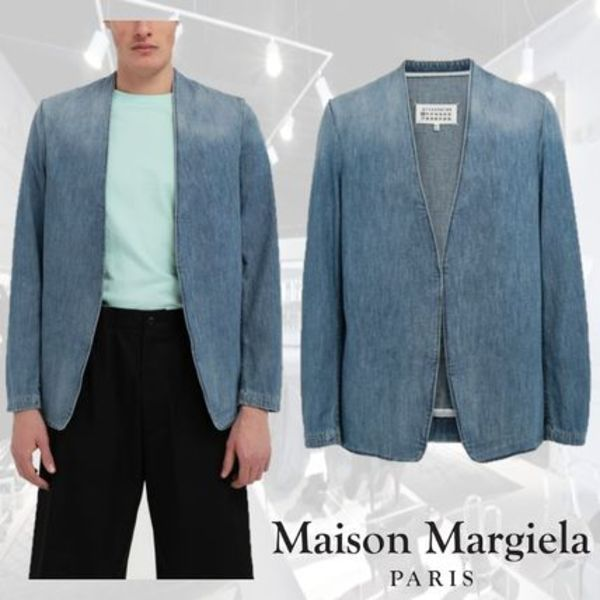 ★Maison Margiela★Collarless denim jacket ノーカラー デニム
