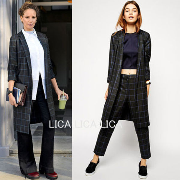 送料無料・国内発送ASOS Checked Longline Blazer Co-ord