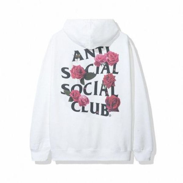 ANTI SOCIAL SOCIAL CLUB SMELLS BAD HOODIE -WHITE フーディー