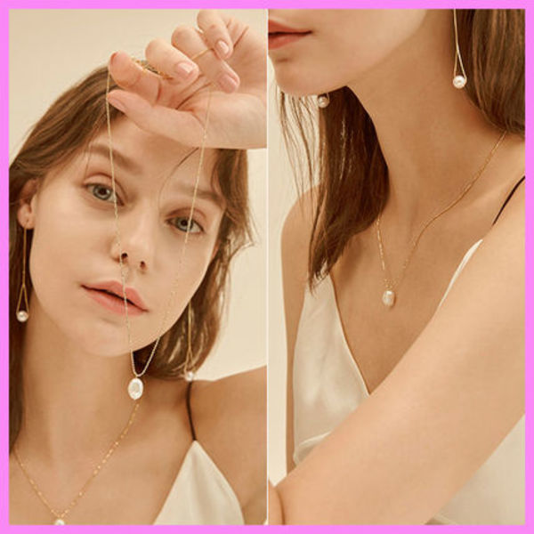【Hei】natural freshwater pearls necklace〜パールネックレス