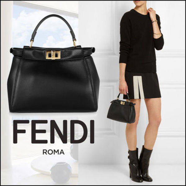 FENDI(フェンディ)☆Peekaboo mini leather tote
