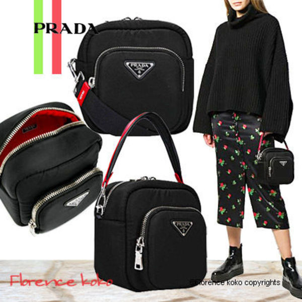 関税込み国内発送 Prada Padded Nylon 2Way Bag 1BC095 2CKI