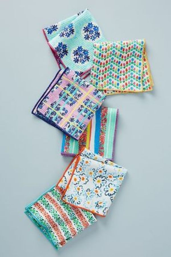 新作☆Anthropologie☆Gabriella Dishcloths ふきん 6枚セット