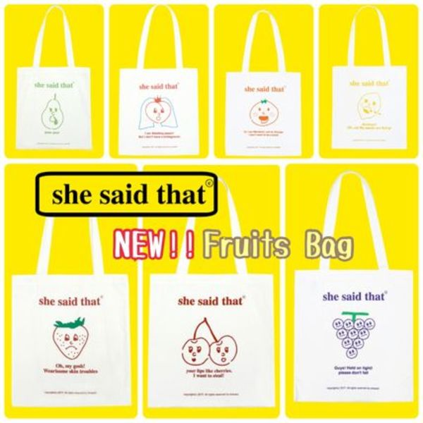 【she said that】Fruits Bag  追跡付送料込み