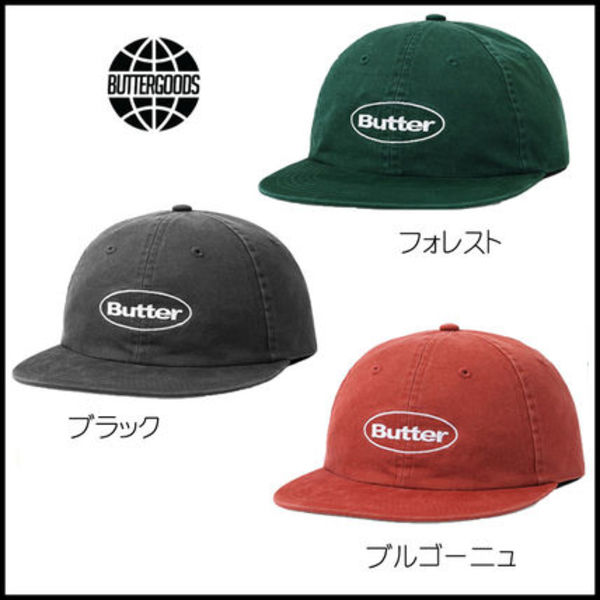 【Butter Goods】WASHED BADGE6PANEL キャップ ウォッシュド加工