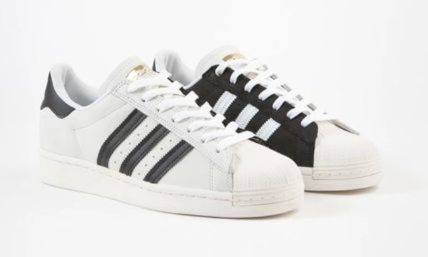 Adidas Superstar Shoes -2 Tone White/Black/Gold FV0323