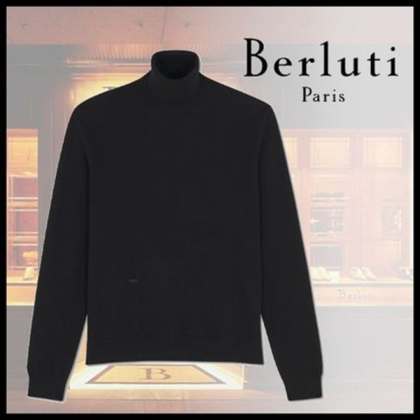 19AW BERLUTI Turtleneck Cashmere Sweater With Logo セーター