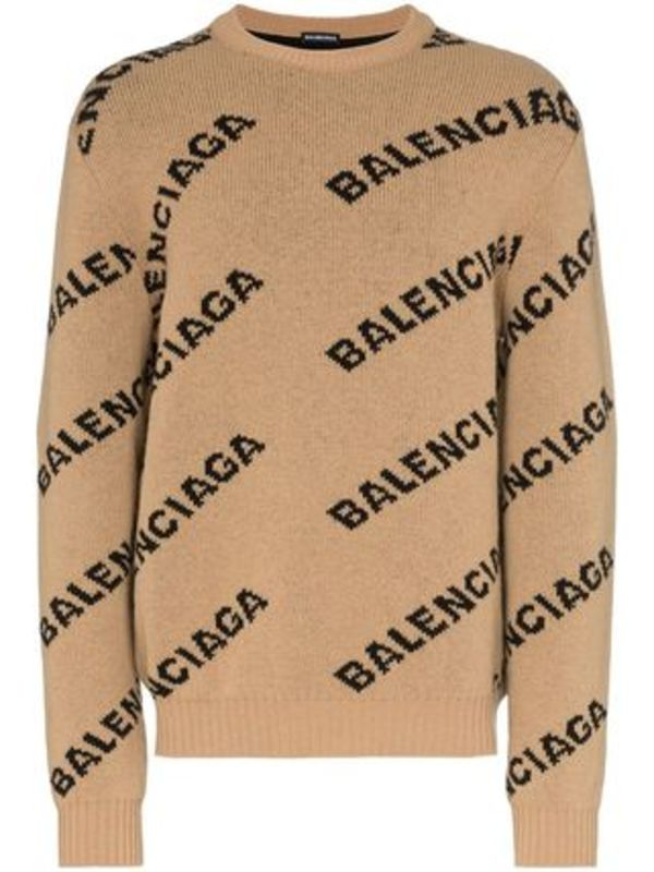 【関税負担】 BALENCIAGA PULLOVER WITH ALL-OVER LOGO