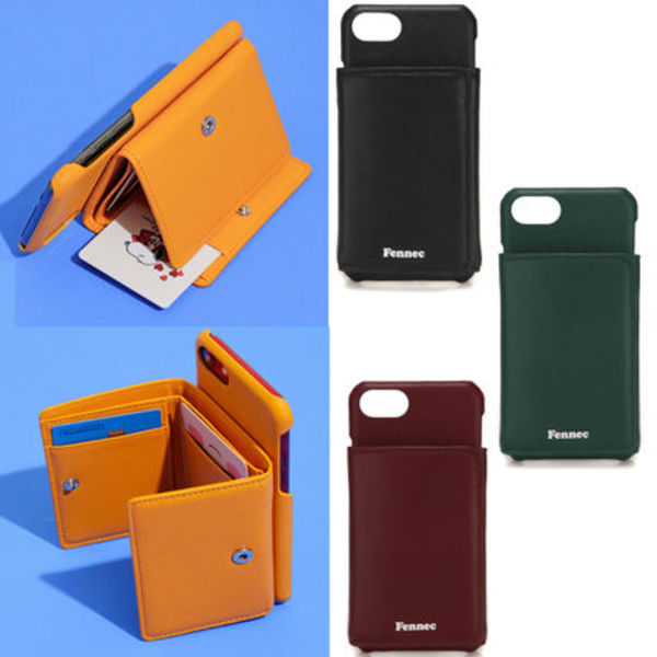 FENNEC★携帯ケース LEATHER iPHONE 7/8 TRIPLE POCKET CASE 4色