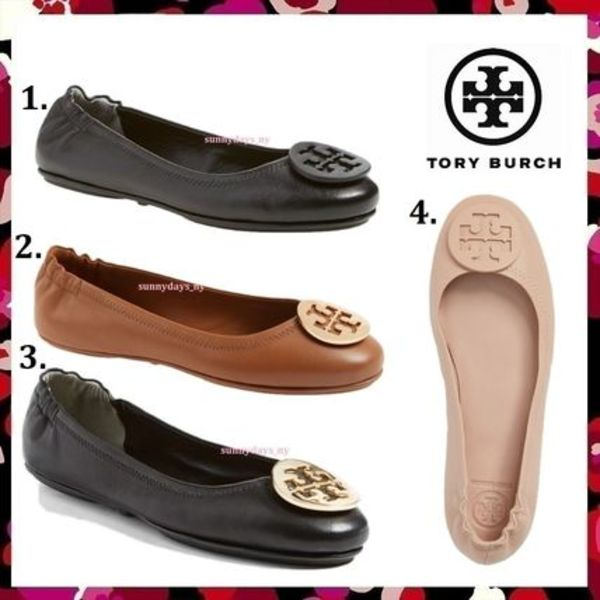 セール 定番 Tory Burch MINNIE TRAVEL BALLET WITH LOGO