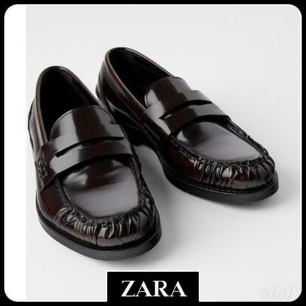 ★ZARA★ LEATHER LOAFERS