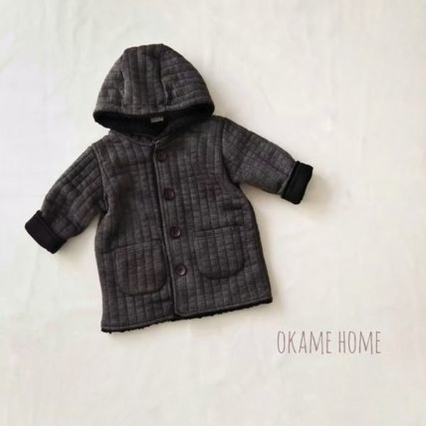 hoodie quilting jacket 韓国子供服