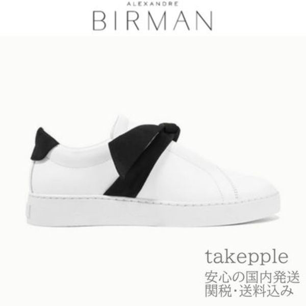 ALEXANDRE BIRMANClarita bow-embellished slip-on sneakers BK