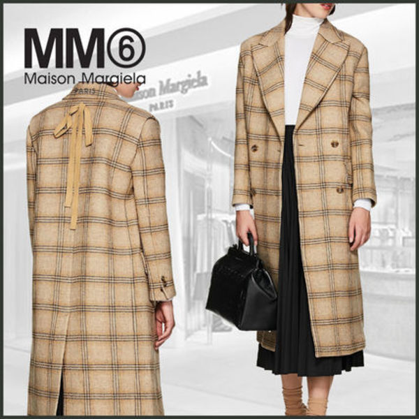 【MM6 Maison Margiela】Convertible Checked Wool Coat