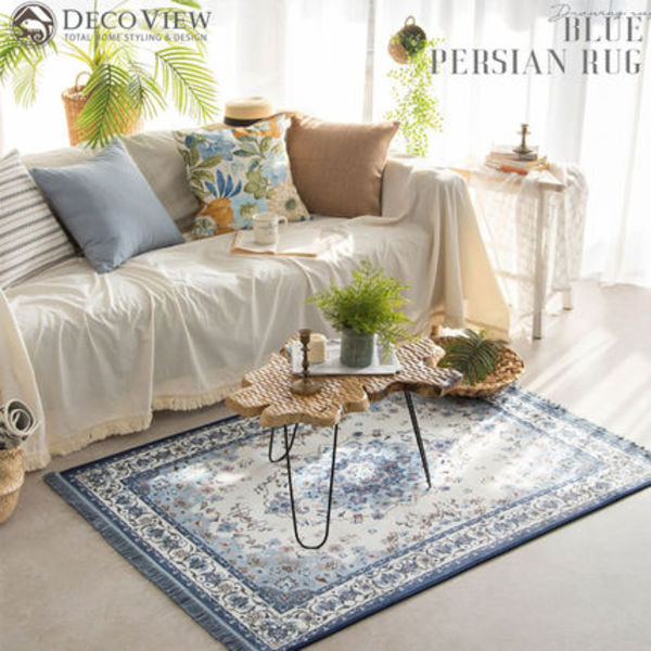 DECO VIEW(デコヴュー)★BLUE PERSIAN Rug - 145 X 108