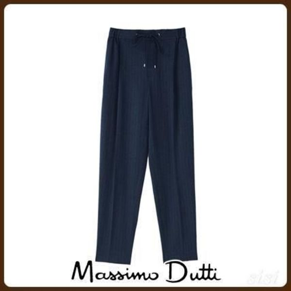 MassimoDutti♪STRIPED JOGGING FIT BOUCLE TROUSERS