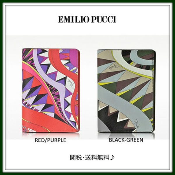 新作!Emilio Pucci★Niki Signature Print Passport Holder 2色