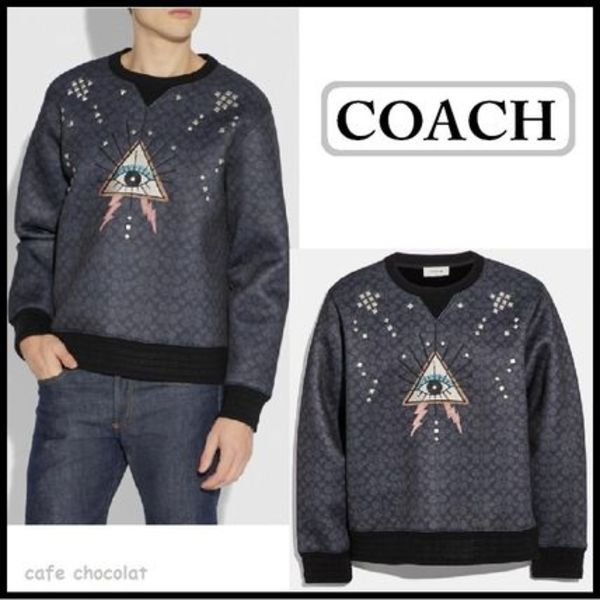 【COACH】Signature Pyramid Eye Sweatshirt セール!国内完売