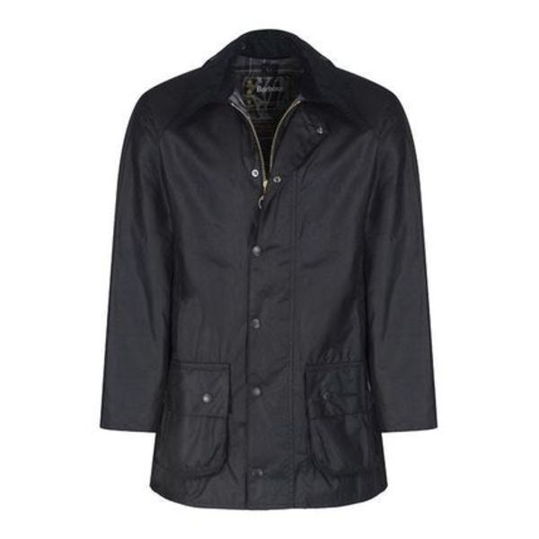 BARBOUR BEAUFORT WAXED JACKET BLACK  MWX0017