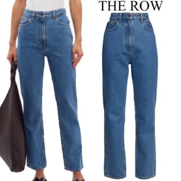 【19AW】THE ROW★Charlee high-rise straight-leg jeans