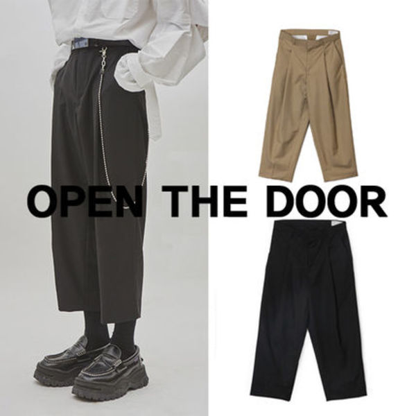 OPEN TH DOOR Unisex tuck crop slacks  s347