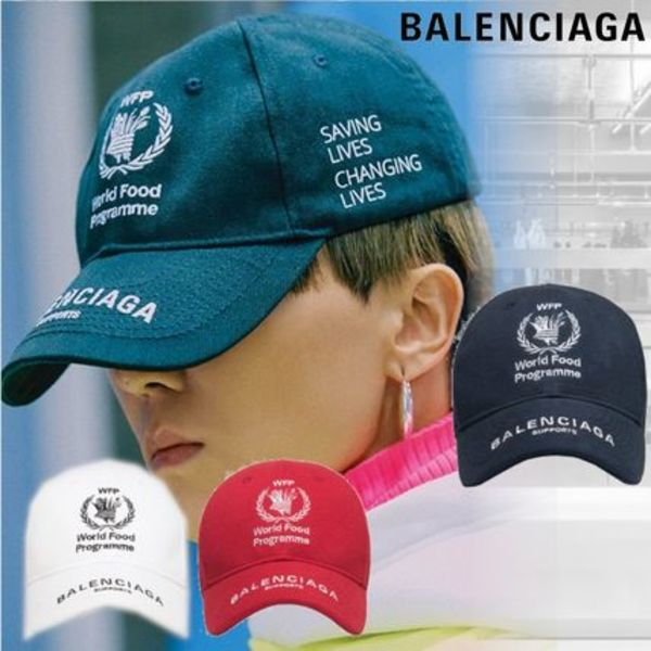 【BALENCIAGA】WORLD FOOD PROGRAMME ロゴ キャップ 帽子 4color