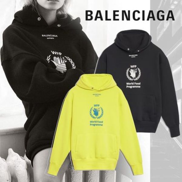 【BALENCIAGA】WORLD FOOD PROGRAMME ウィメンズ フーディ WFP