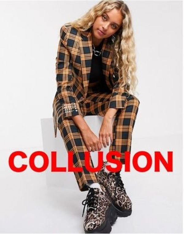 ASOS☆COLLUSION☆チェックブプリント上下セット