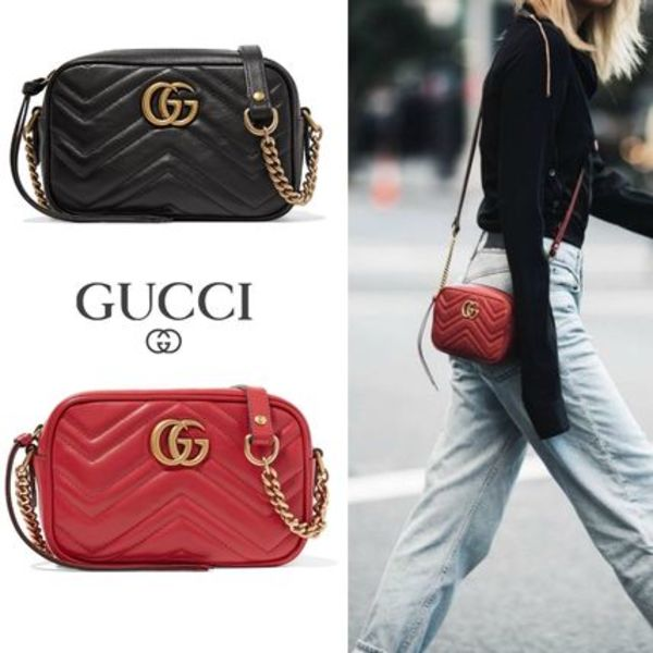 ∞∞ GUCCI ∞∞ GG Marmont ミニ クロスボディバッグ☆