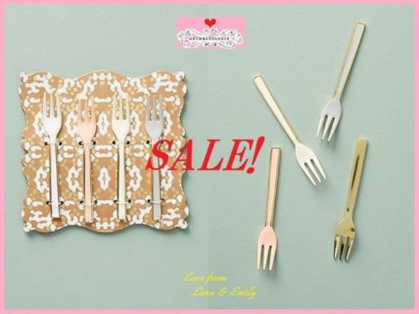 SALE☆アンソロ完売*ラス1即納【Anthro】Horizon Appetizer Fork Set