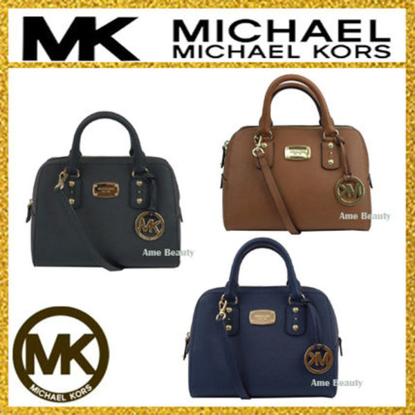 【即発3-5日着】◆Michael Kors◆Saffiano Small Satchel 2way