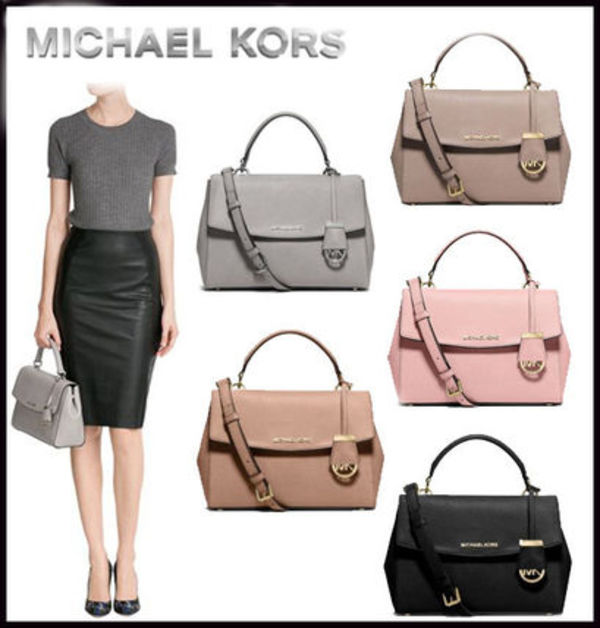 MICHAEL KORS ★ AVA SMALL SAFFIANO LEATHER SATCHEL 国内発送
