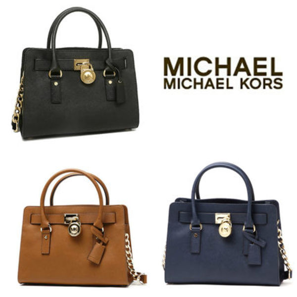 国内即発★MICHAEL KORS★HAMILTON East/West MEDIUM SATCHEL