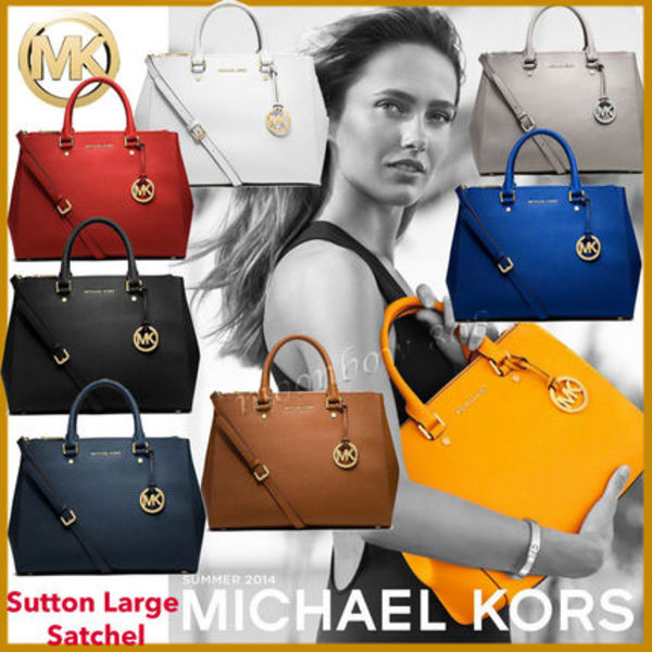 新作 SALE ★Michael Kors Sutton Large Satchel ラージ