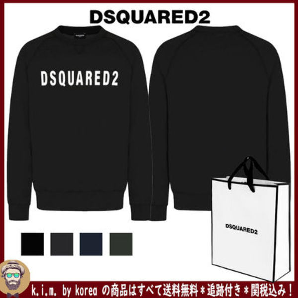 追跡★関税★送料込/DSQUARED2/BASIC LOGO SWEATSHIRT