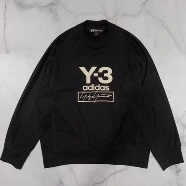 Y-3 X ADIDAS STACKED LOGO CREW SWEATER FJ0432