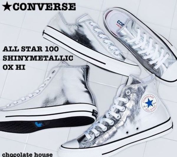 【CONVERSE】 ALL STAR 100 SHINYMETALLIC OX HI メタリック