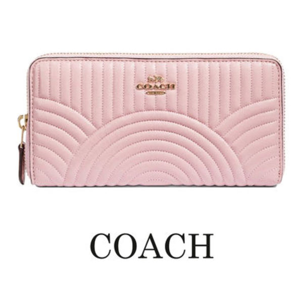 即発★COACH★Accordion Zip Quilting長財布★F87888 IMPIN